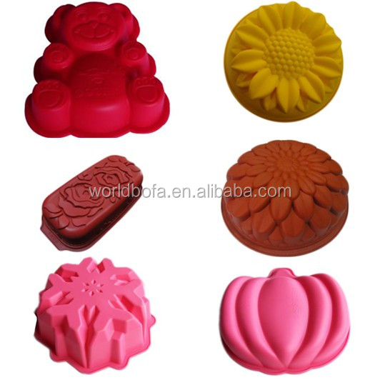 Cake silicone mold silicone baking pan big pumpkin cake mold