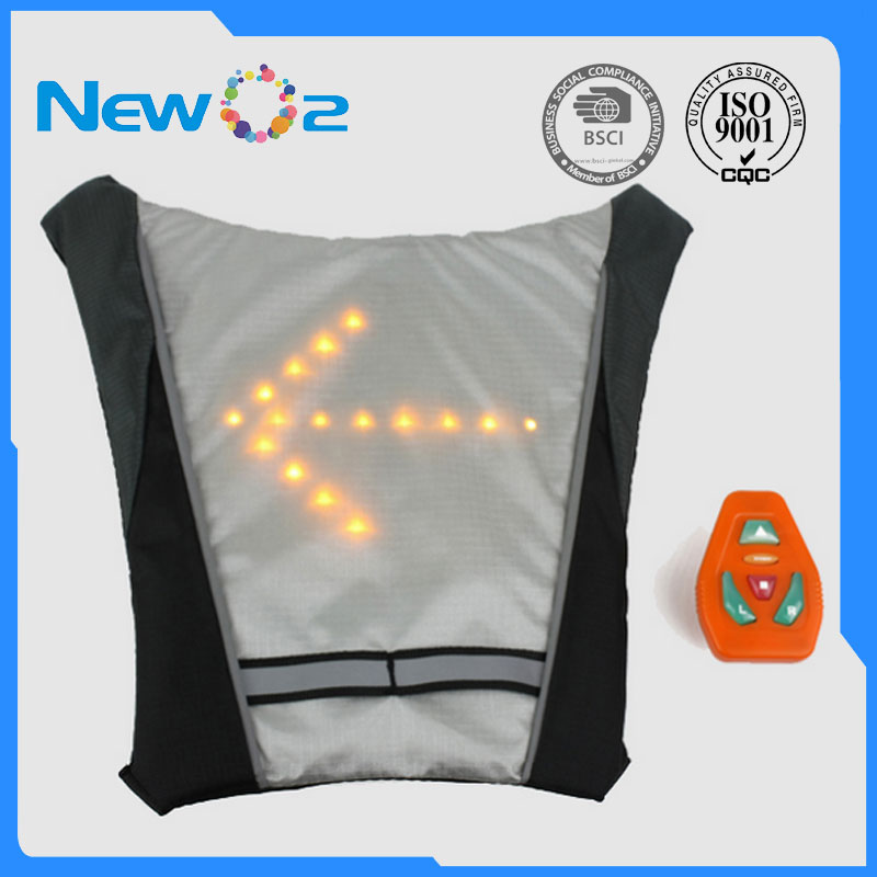 Cycling Bicycle Light Wireless Remote Control Reflective Safety Vest With Led Signals Cycling Running Safe Waterproof Rechargeable Bike Accessories Wide Varieties
