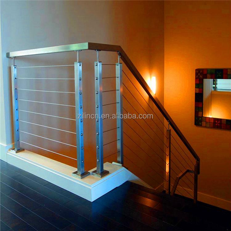 Fil c ble en acier inoxydable rampe d 39 escalier rampes d 39 escalier i - Photo d escalier d interieur ...
