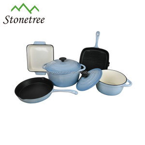 European Enamel Coated Cast Iron Kitchen Cookware
