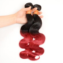 New Products 2016 Virgin Brazilian Hair Body 1B/Bug Ombre Hair Weaves