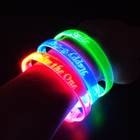 2019 Consumer Electronics Birthday And Christmas Gift Custom Logo Glow Flashing Light Sport LED Wristbands Bracelet For Party