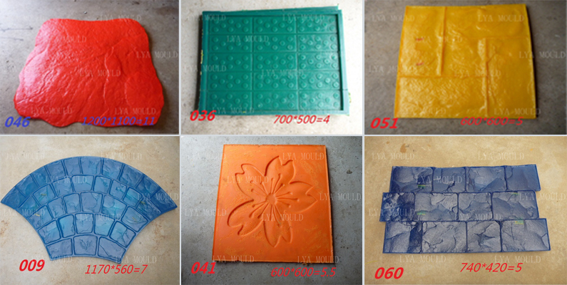 Pu Material Decorative Concrete Texture Stamp Mat Buy