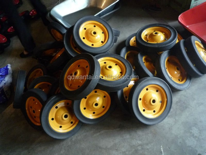 13inch good quality wheel barrow solid rubber wheel