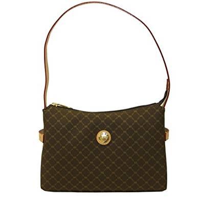 Signature Brown Top Zip Shoulder Bag by Rioni Designer Handbags & Luggage