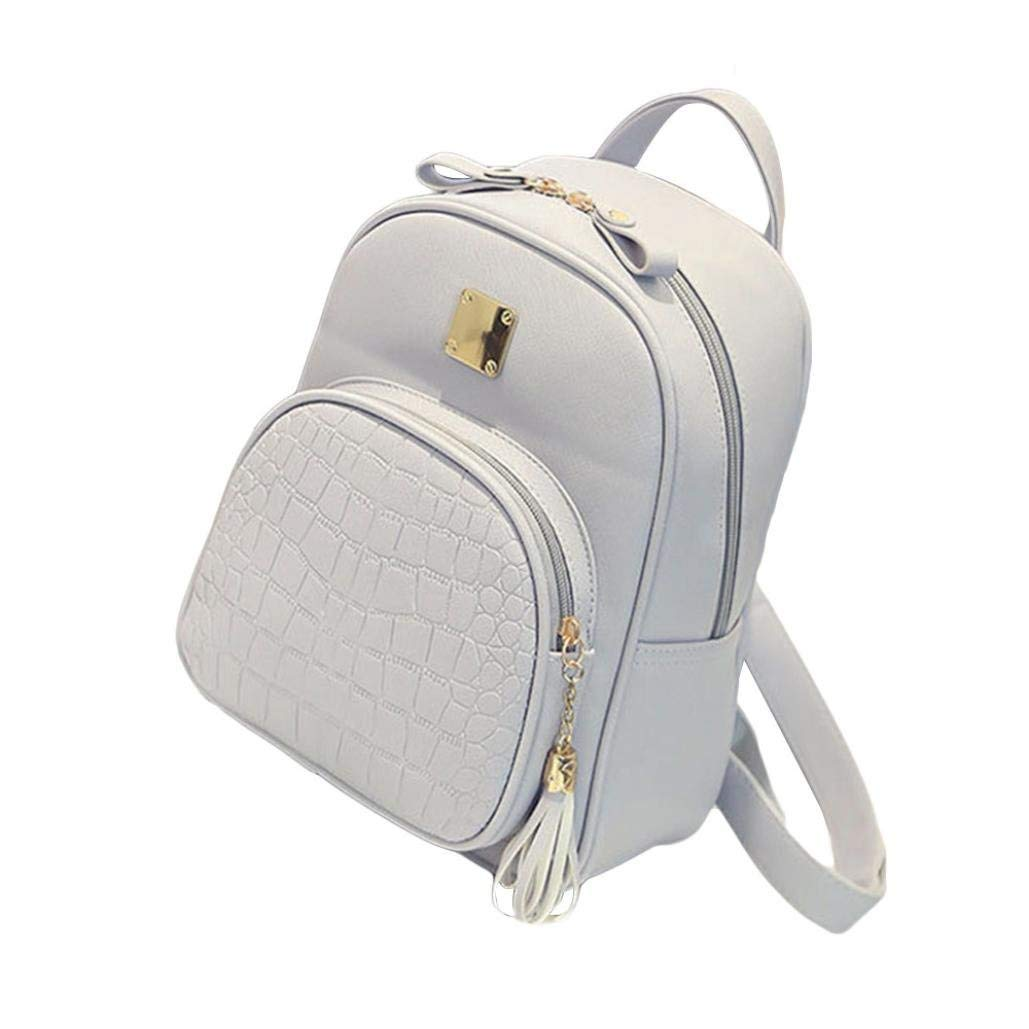 3a1ef6590e89 Get Quotations · Women Backpack Purse PU Washed Faux Leather Ladies  Rucksack Shoulder Bag Girl School Backpack