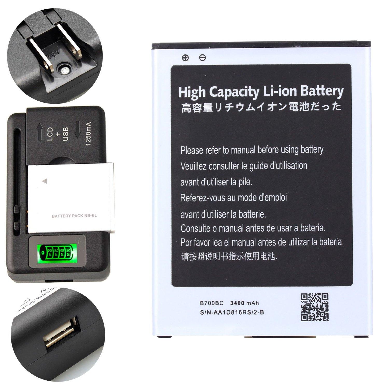 High Capacity Samsung Galaxy Mega 6.3 Battery B700BC B700BE B700BU + Universal Battery Charger With LED Indicator For Samsung Galaxy Mega 6.3 SPH-L600 / Samsung Galaxy Mega 6.3 SGH-I527 / Samsung Galaxy Mega 6.3 SCH-R960 / Samsung Galaxy Mega 6.3 SGH-M819N / Samsung Galaxy Mega 6.3 GT-I9200 3400 mAh