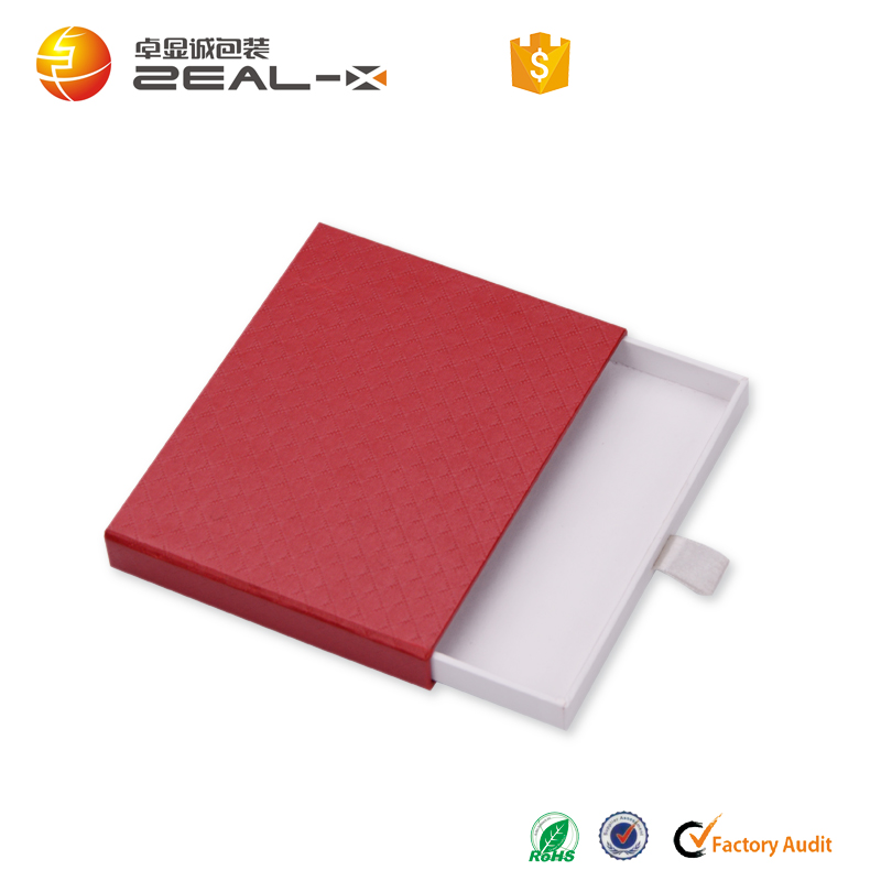 Custom Red Paper board Clothes Gift Packaging Boxes With Embossing Logo