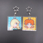 Clear Color and Customized Size clear acrylic anime keychain