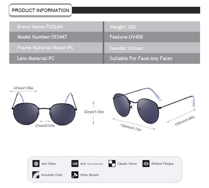 Fuqian girls sunglasses collection for business for women-7