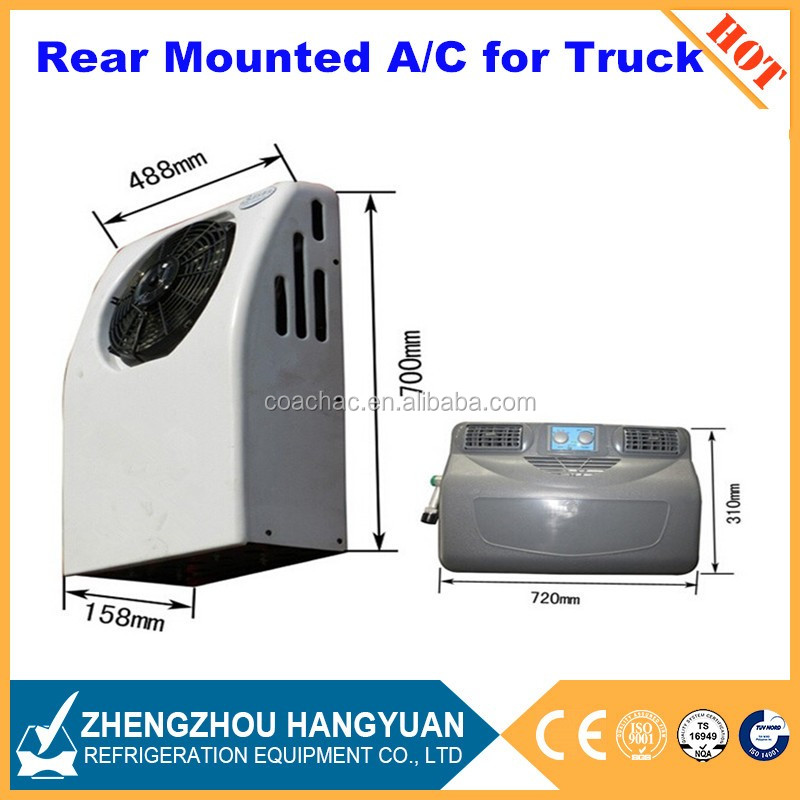 Electric dc 12v powered 12 volt truck sleeper air conditioner for truck