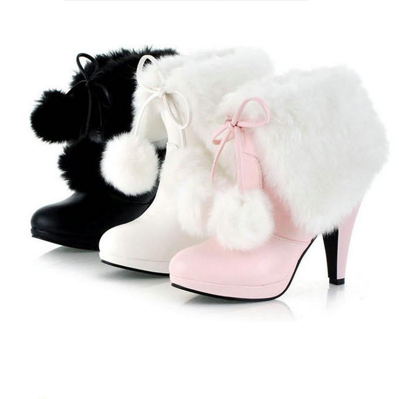 Women boots hot 2015 winter new warm snow boots cute furry