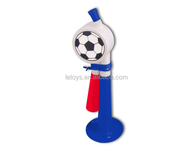 2018 World Cup hot sale French football fans plastic horn/ soccer fans cheering plastis horn