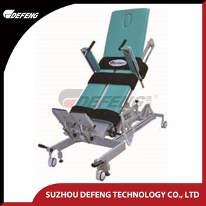 DLQ-1A Medical physiotherapy Tilt Table, Physiotherapy equipment for stroke paitent standing bed
