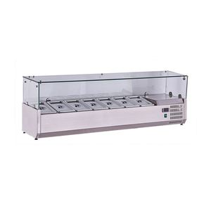 9 Tray Mini Counter Salad/Pizza Refrigerated Cabinet