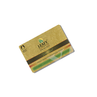 13.56MHz Gold Card RFID Blank Custom Magnetic Smart Chip Card