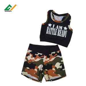 Athletic shorts womens customised high waisted gym shorts cheerleading sublimation cheer sport bra