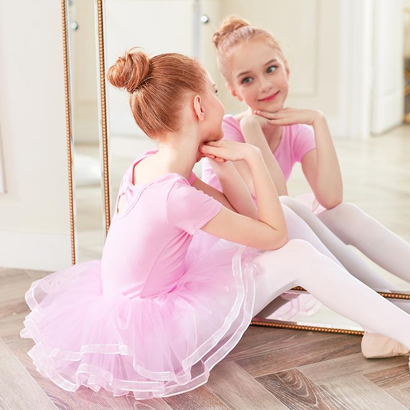 Girls Ballet Leotards With Tutu Skirts Tulle Skirted Leotards