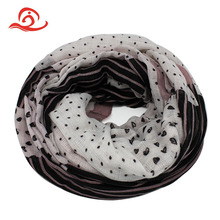 Customized Mix Color Lace Silk Stretch Knit Long Polyester Scarf