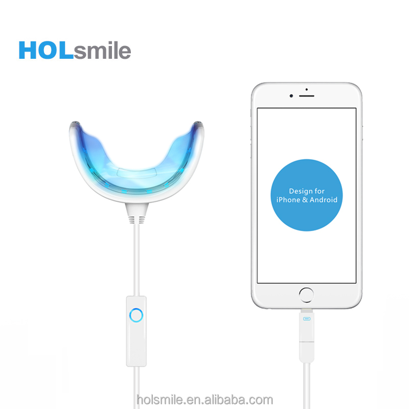 2016 New style 16 Bulbs Teeth Whitening LED Smart Phone Light