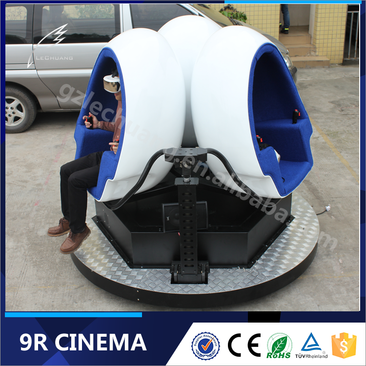 Global Amazing 360 Degree Platform Amusement Park 9D Virtual Reality Cinema 9D VR Game Simulator