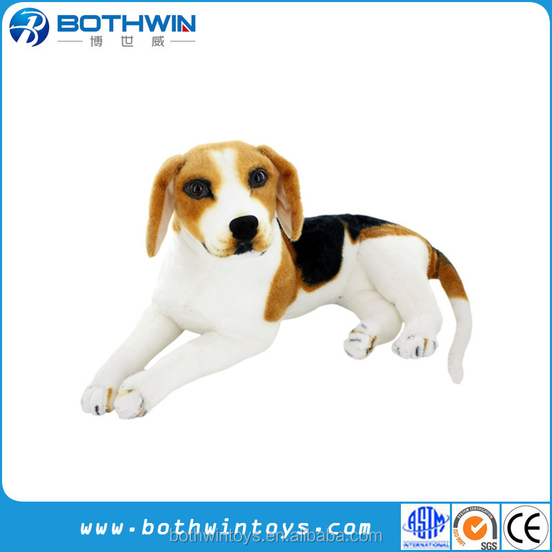 Giant Realistic lifelike beagle plush toys stuffed