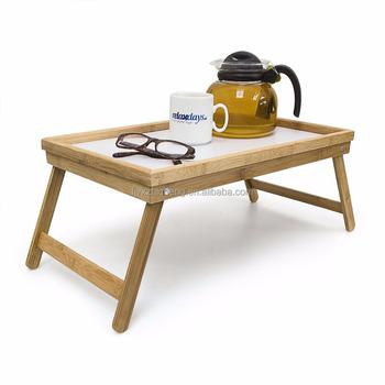 Portable plateau Avec Pliable Pliant Bois Poignée Service Lit Buy De Bureau D'ordinateur table En Jambes Table Plateau Bambou SUVMpz