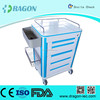 DW-CT219case stainless steel medical trolly with 4 wheels designed for hospital