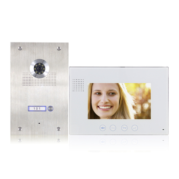 video intercom system, outdoor station + monitor + power supply with video door phone indoor 7 inch monitor