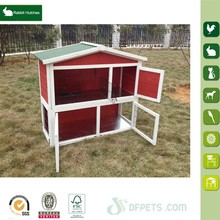 Factory direct sales wooden hutch for breeding rabbit in China