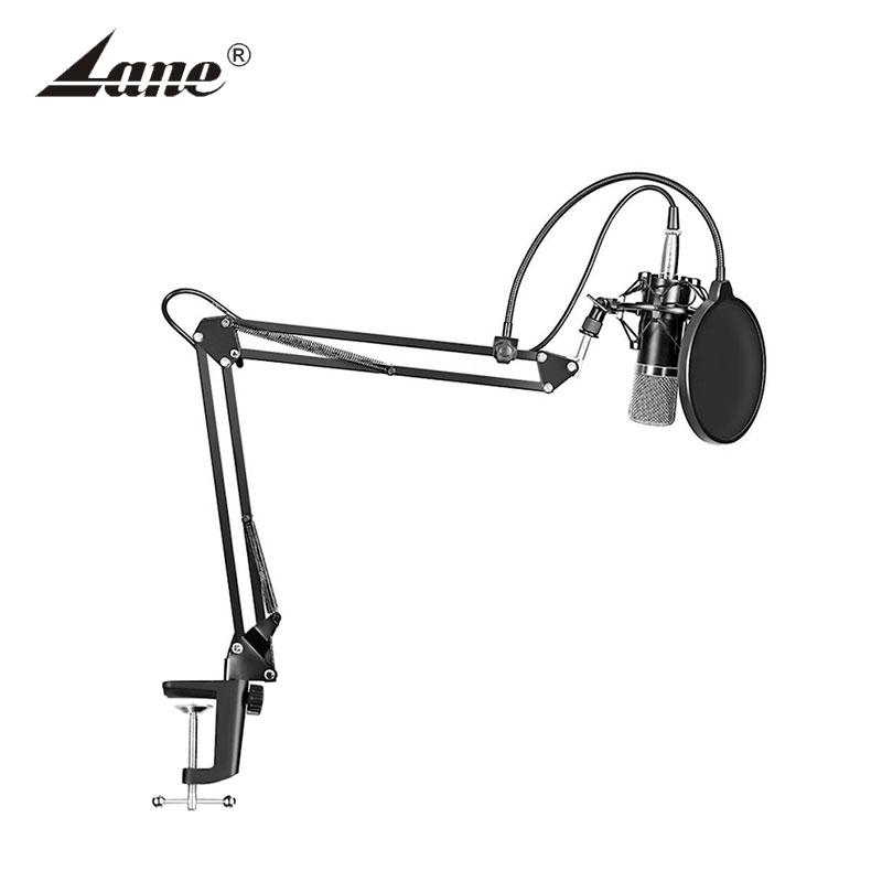 Lane computer bm800 microphone Professional Studio Condenser Sound Recording Microphone, Black;silver;gold;custom