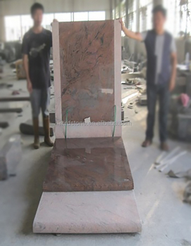 High Quality Albania Style Nature Multicolour Red Grave Monument Slab