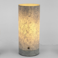 Chinese new fashion stone texture grey bedside table lamps led home lighting modern table lamp