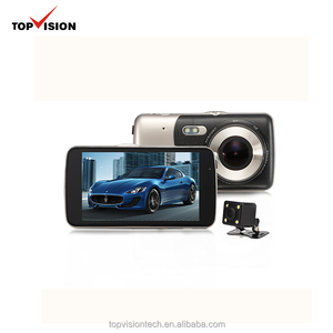 4 inch IPS touch screen car dvr fhd 1080p dual camera mini dash cam video recorders with night vision