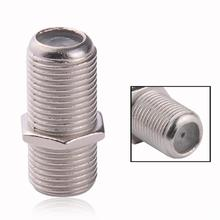 10pcs lot Wholesale F81 Barrel Connector F Type Female F Type Female RG6 RG59 Coax Cable
