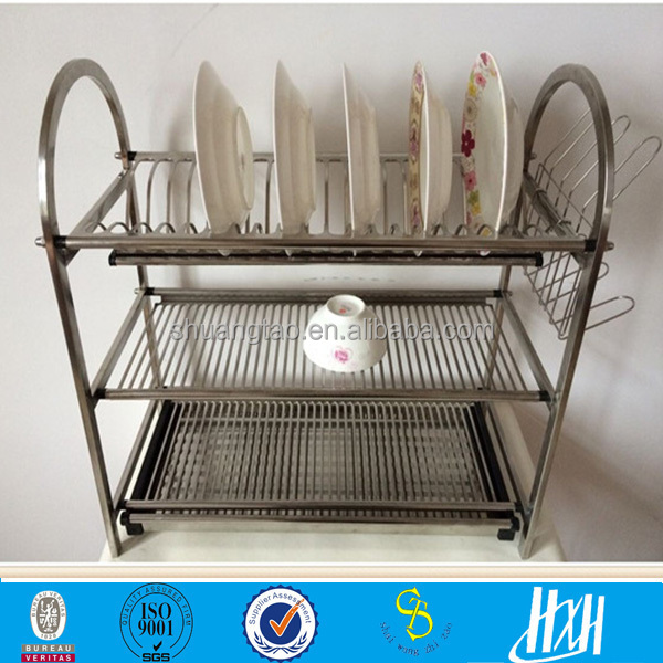 Hot Hot 3 Tier Stainless Steel Kitchen Dish Rack Buy Kitchen Dish