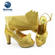 Nigeria Party Shoes And Bag Set Low Heel Genuine Leather Nigeria Shoes For Women