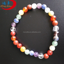 Jewelry Natural jade stone energy wholesale chakra stones seven colorful Buddha beads