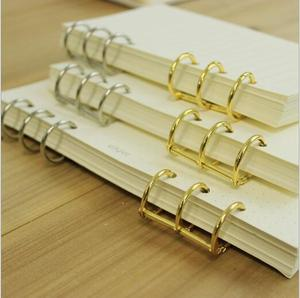 A5 A6 3 Ring Loose leaf Binder Spiral notebook metal clip ring binder DIY fill paper storage folder accessories