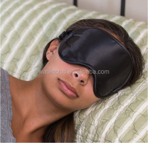 Super soft sleep mask bulk silk eye mask with ear plugs