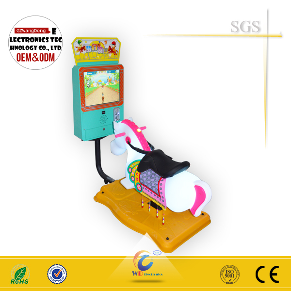 3D video arcade Coin Operated Horse racing game machine amusement Kids Games Ride horse 3d swing horse