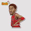 Bevle 9343 NBA Bastetball Super Star Scottie Pippen Waterproof Stickers Laptop Luggage Fridge Car Graffiti Cartoon
