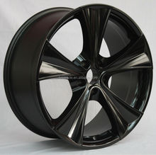 5 spoke gentleman black alloy car rim