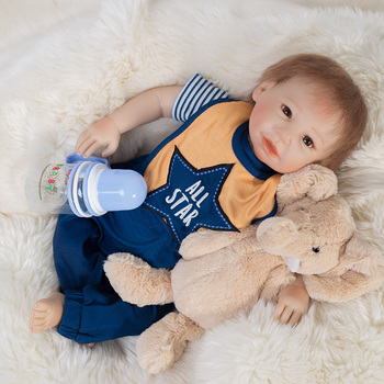 Import Newborn Vinyl Lifelike Boys Toys Reborn Baby Dolls Baby Toys
