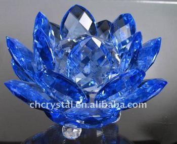 Blue Feng Shui Crystal Lotus Flowers Mh H0058 Buy Blue Feng Shui