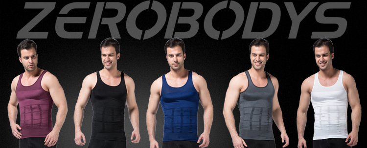 107 PU ZEROBODYS Incredible Mens Body Shaper Firming Panels 140D Vest Wholesale Body Shaper Waist Cincher Corset