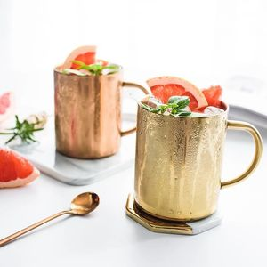 wholesale Eco-friendly Stainless steel Copper cup custom moscow mule mug