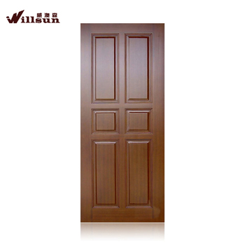High Quality Solid Wooden Doors Mdf Skin Door Panel On