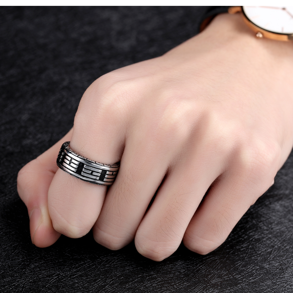 Wholesale Custom Men Stainless Steel Jewelry Yin Yang Ring