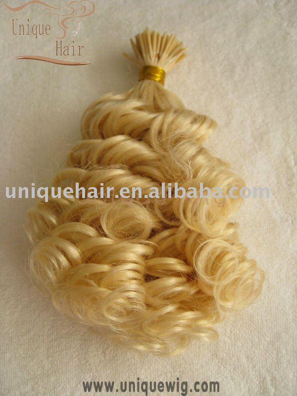 Brazilian curly keratin bond hair extension